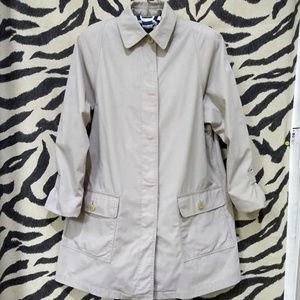 LONDON FOG Trench Coat flannel women's size 8R